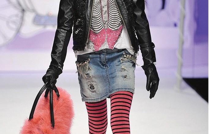 A girly biker look in Miss Grant&#8217s fall &#821714 ready-to-wear line