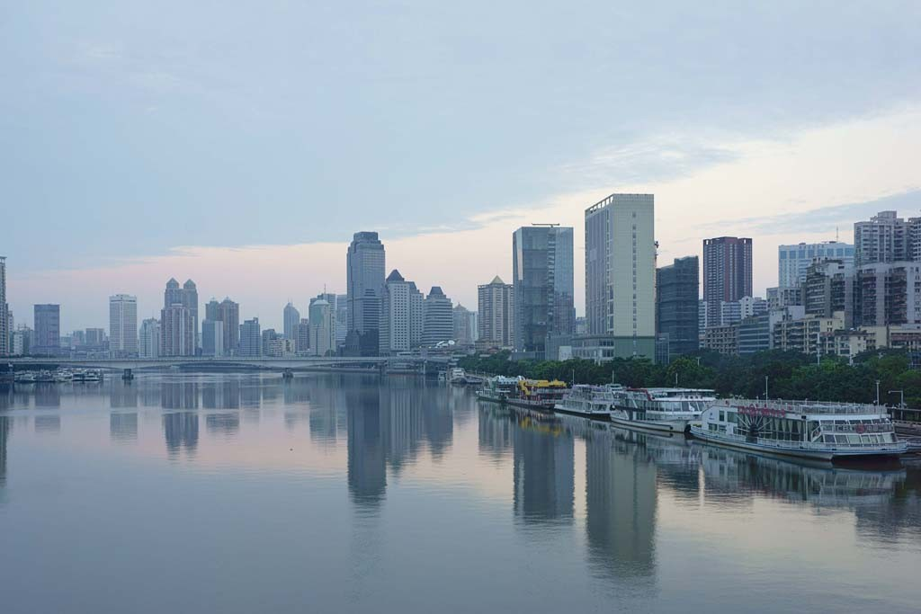The Pearl River in Guangzhou, China.