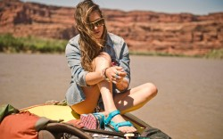 An ad from the Teva Originals Collection for spring 2014