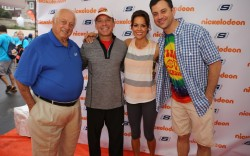 Tommy Lasorda Michael Greenberg Brooke Burke-Charvet and Jimmy Kimmell