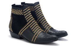 Anine Bing lambskin boots with gold studs