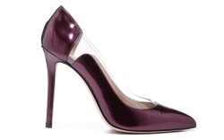 Elie Saab&#8217s deep purple patent cutout pump