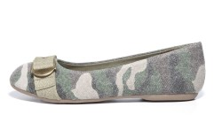 Canvas ballet flat with buckle on toe by MIA