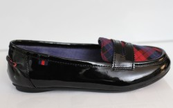Tommy Hilfigers patent leather penny moc