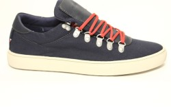 Canvas sneaker with oversized tongue from Tommy Hilfiger