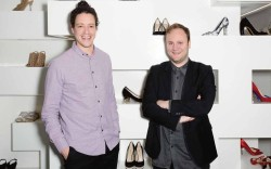 Christopher Suarez and Nicholas Kirkwood in the designer&#8217s Mount Street store