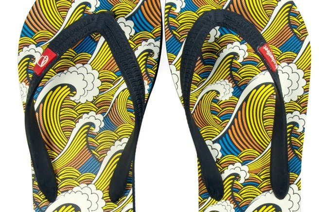 BucketFeets first flip-flop collection