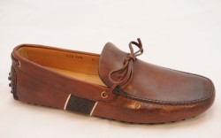 Car Shoe&#8217s burnished leather driving moc spring &#821715