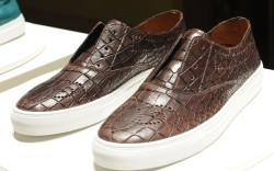 Fratelli Rossetti&#8217s croc-embossed laceless sneaker brogue spring &#821715