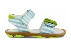 Umis spring 15 turquoise striped sandal