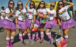 FN footwear news TAW They Are Wearing Global Color Run