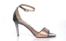 Claudia Ciutis tritone metallic leather sandal resort 15
