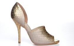 Coye Nokes gold metallic leather sandal resort 15