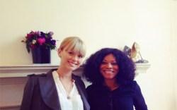 With Chelsea Paris designer Theresa Ebagua at Somerset House