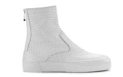 Emporio Armanis woven leather sneaker-boot spring 15