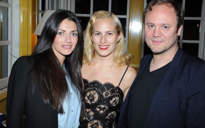 Natalia Barbieri Charlotte Dellal and Nicholas Kirkwood