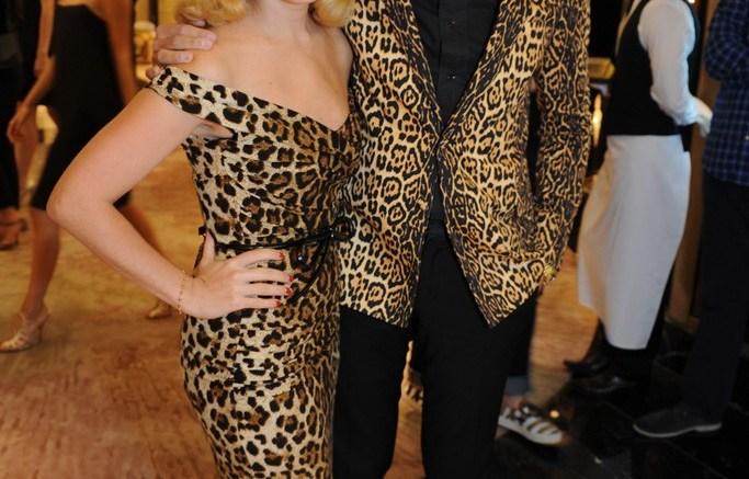 Charlotte Dellal and Mark Ronson at Harrods