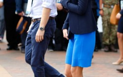 Kate Middleton and Prince Harry at the Commonwealth Games