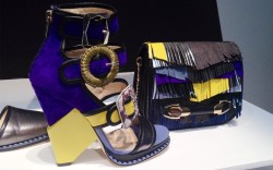 At Jimmy Choo why have one buckle closure when you can have three Creative director Sandra Choi is all about experimentation this season
