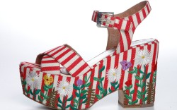 Laurence Dacades embroidered floral sandal spring 15