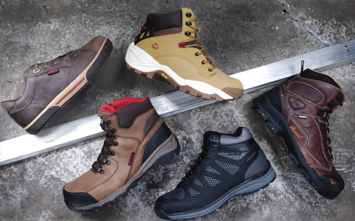 Clockwise from left KEEN UTILITY WOLVERINE THOROGOOD DICKIES&#8217 ROCKY&#8217s