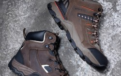 From top IRISH SETTER WORK&#8217s UltraDry electrical hazard waterproof style with ghillie lacing MCRAE INDUSTRIAL&#8217s safety-toe boot with reinforced toe guard and padded collar