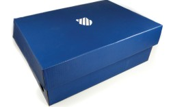 The new shield and Brunner Blue on a shoebox