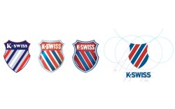 The evolution of the K-Swiss shield over the years
