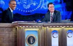 Barack Obama Stephen Colbert