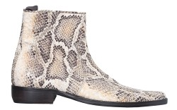 Donald J Pliner's printed leather ankle boot.