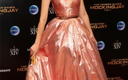"""Elizabeth Banks in Paul Andrew shoes at the """"Hunger Games: Mockingjay, Part 1"""" after-party in London."""