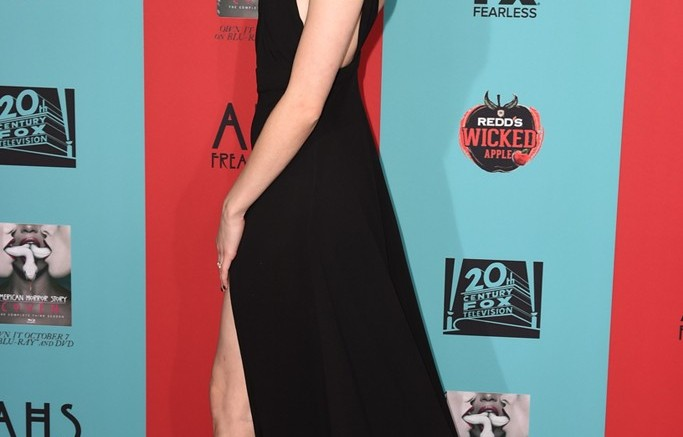 "October 2014: Emma Roberts at the premiere of ""American Horror Story: Freak Show."""