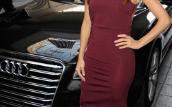 Also working Brian Atwood, Eva Longoria posed outside the 2014 Variety Power of Women luncheon in Oct. 2014.