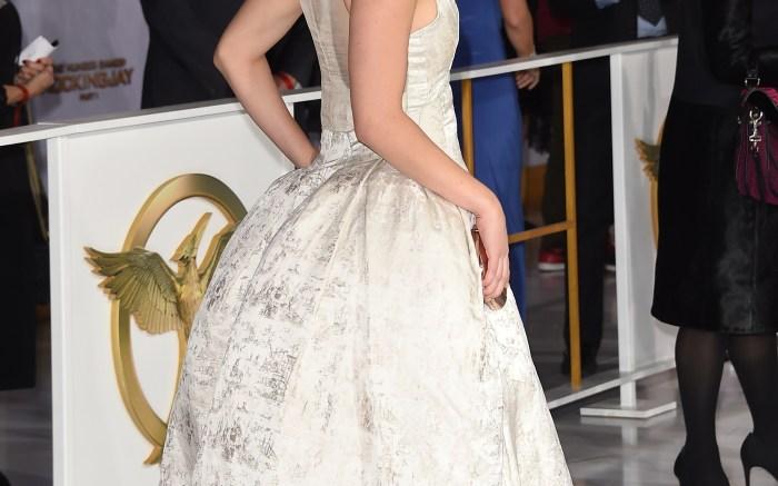 Jennifer Lawrence Aquazzura The Hunger Games Mockingjay Part 1 premiere