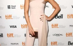 """Kate Beckinsale attended """"The Face of an Angel"""" premiere in Brian Atwood sandals."""