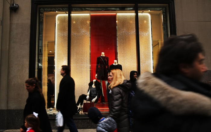 New York City holiday shoppers 2014