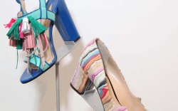 """Paul Andrew: Two hits for Paul Andrew: A tasseled sandal that borrows from the boys, and this layered, bonded and sliced """"like prosciutto"""" suede pump."""