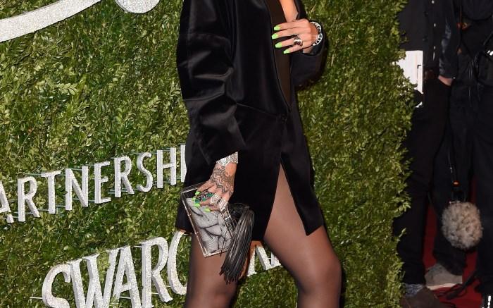 Rihanna Guiseppe Zanotti sandals British Fashion Awards London