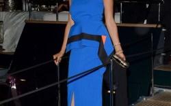 Rosario Dawson aboard Roberto Cavalli's yacht