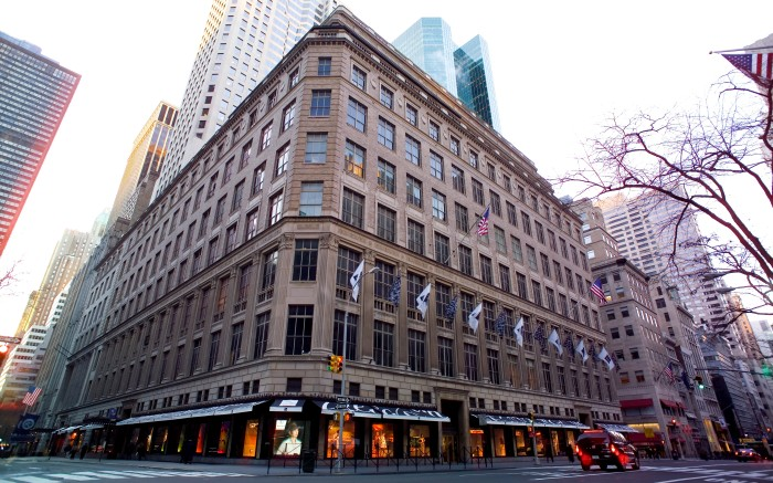The NYC flagship of Saks Fifth Avenue, owned by Hudson's Bay Co.