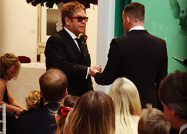 Elton John Wedding Ceremony