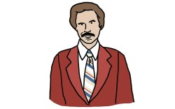 """Movie I can quote by heart:""""'Anchorman.' For some reason, I love movies and shows that make you feel uncomfortable."""""""