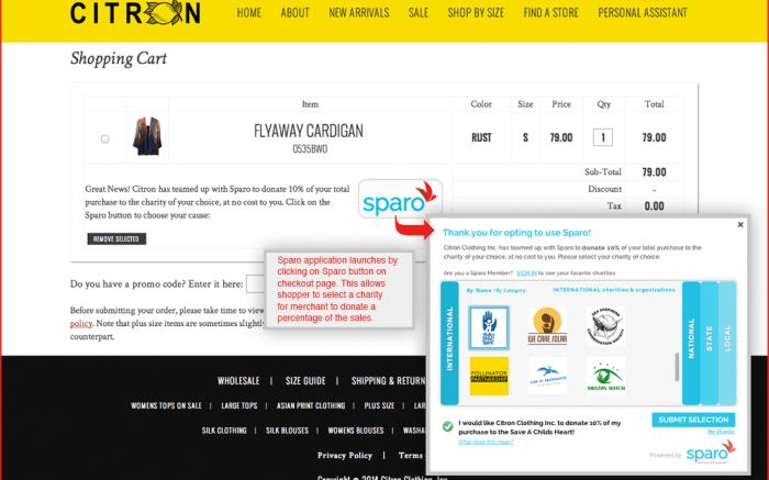 Sparo's transaction interface