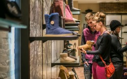 Shoppers at Ugg Store