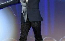 Robert Downey Jr. in Christian Louboutin high-tops