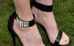 Julianne Moore in Alexander McQueen ankle strap sandals
