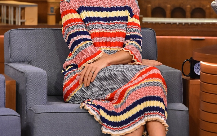 """Sienna Miller Visits """"The Tonight Show Starring Jimmy Fallon"""""""