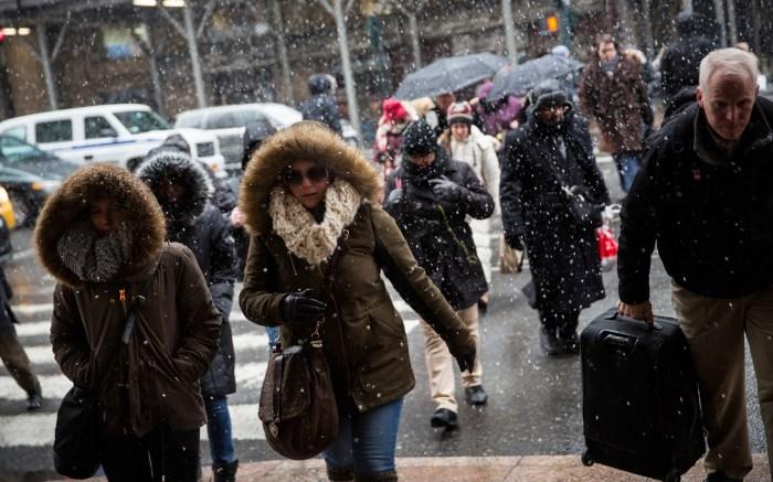 Blizzard Barrels Into New York City