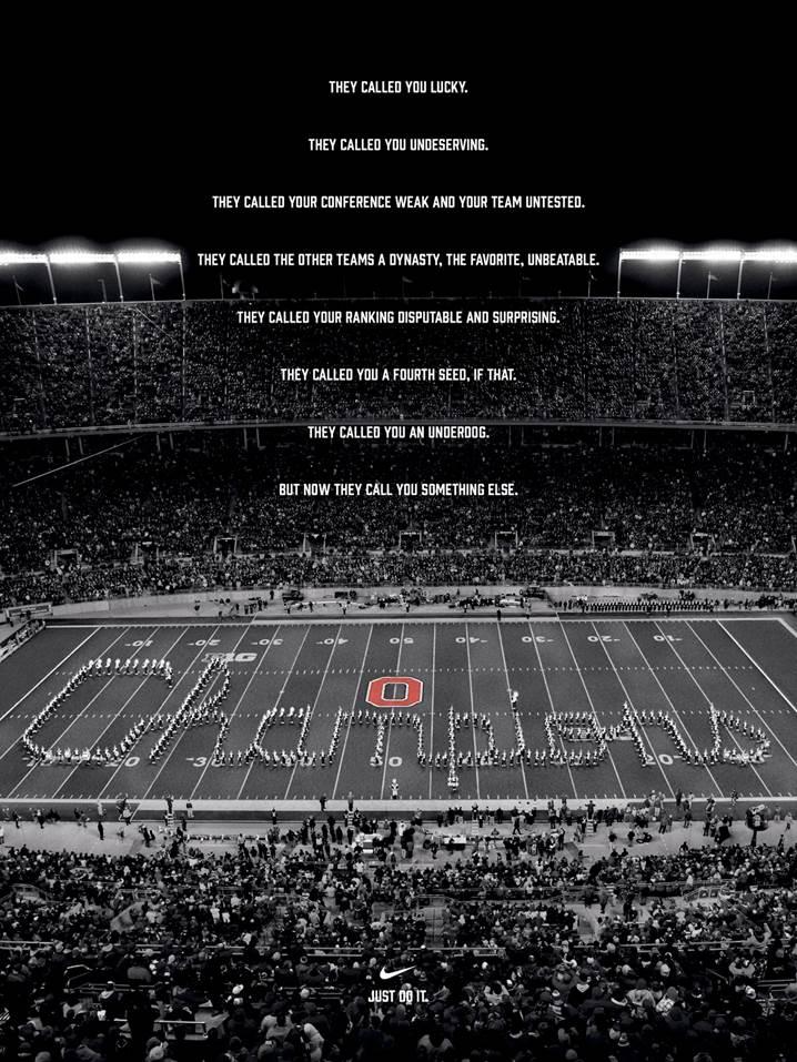 Nike Celebrates Ohio State University Wins