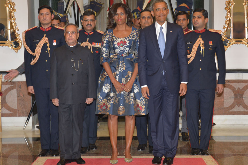 Michelle Obama in Jimmy Choos India